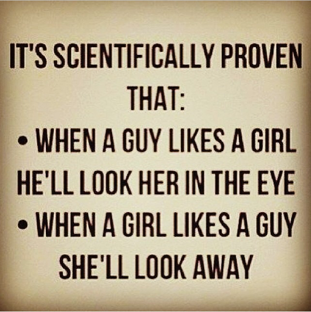When A Guy Looks Into Your Eyes