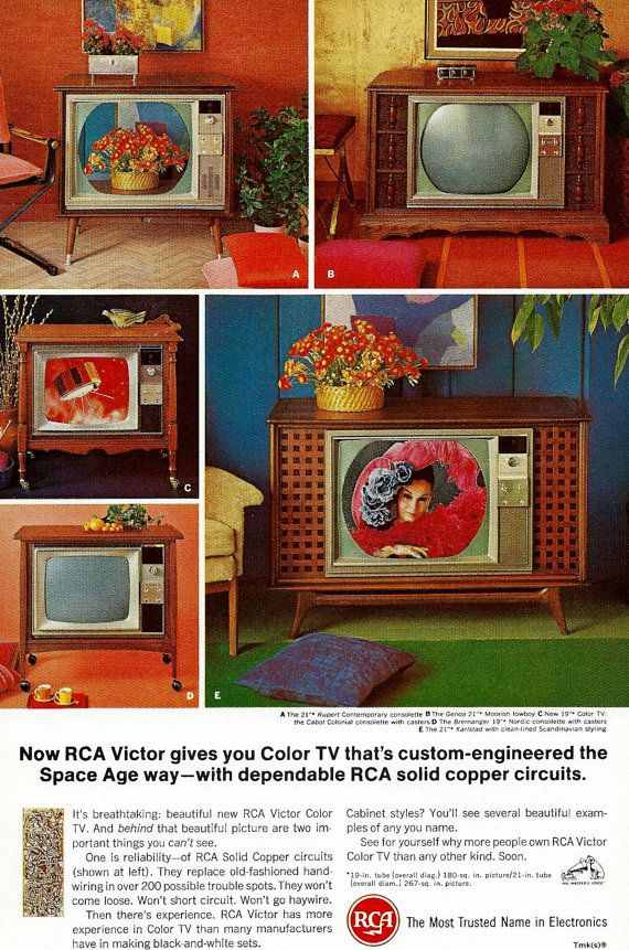 Vintage Television Ad 1960 39 S Rca Victor Space Age Color Tv Modern Electronics Home Illustration Wall Decor Vintage Television Vintage Tv Ads Vintage Tv