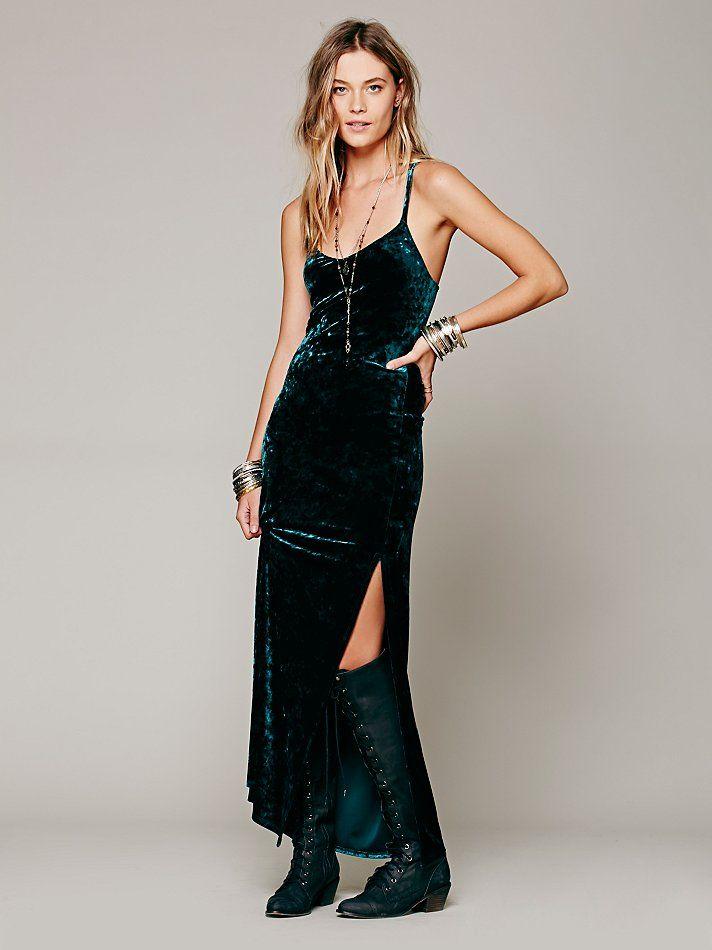 646a524a4d9c5c Free People Velvet Maxi, руб 3887.30 | dress in 2019 | Velvet ...