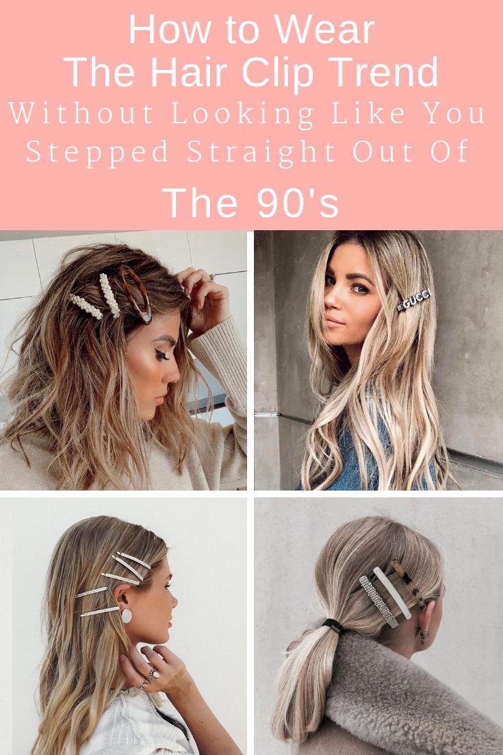 How To Wear The Hair Clip Trend Clip Hairstyles Hair Hair Styles