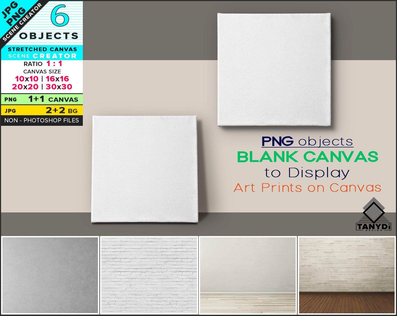 Blank Stretched Canvas On Wall Floor Custom Scene Creator Etsy Custom Scene Stretch Canvas Scene Creator