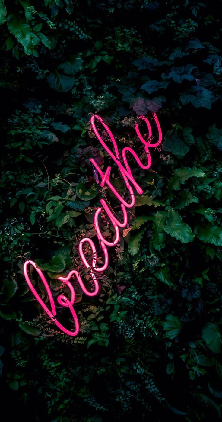 Breath Neon Light Iphone Wallpaper Download The Perfect Neon