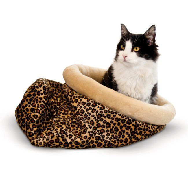 RadioFence.com - Self Warming Kitty Sack - $29.95 #cat #catbed #catsack #warm #heated (http://www.radiofence.com/self-warming-kitty-sack-leopard/)