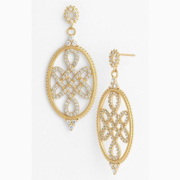 Love Freida Rothman Women S Knot Drop Earrings Gold One Size By