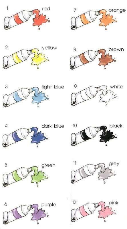 Assez Schede di inglese per la scuola primaria - Scheda sui colori in  QO36