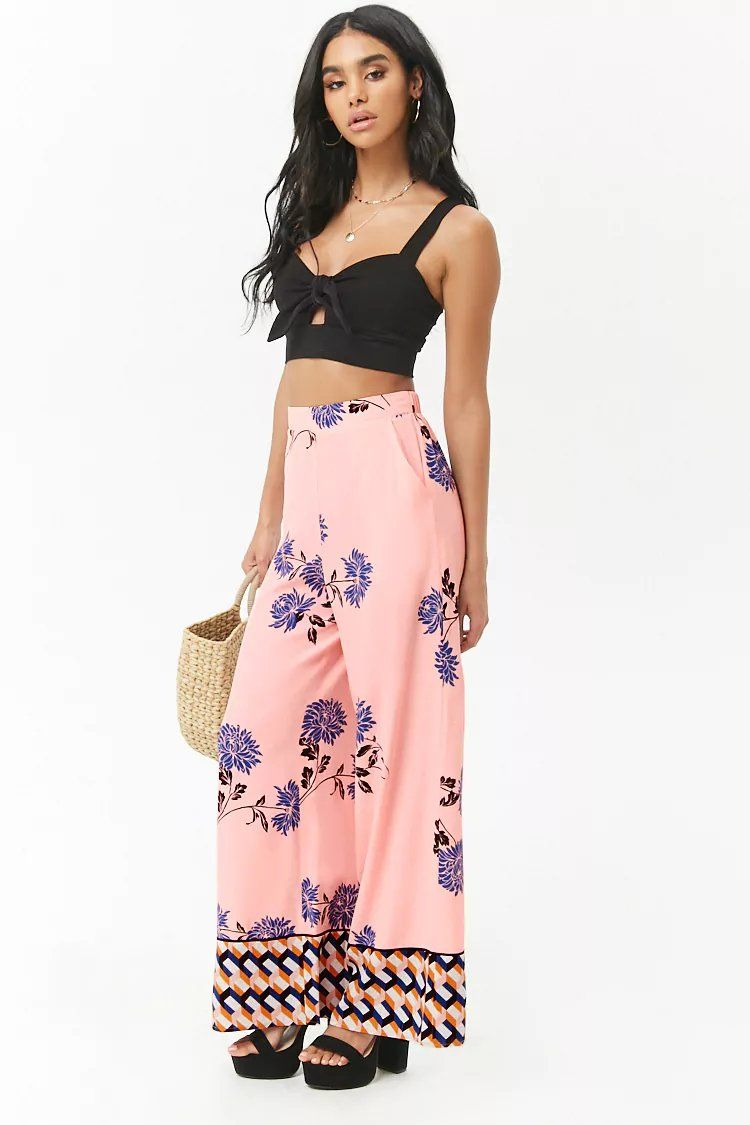 Product Name:Floral Geo Palazzo Pants, Category:contemporary-main ...