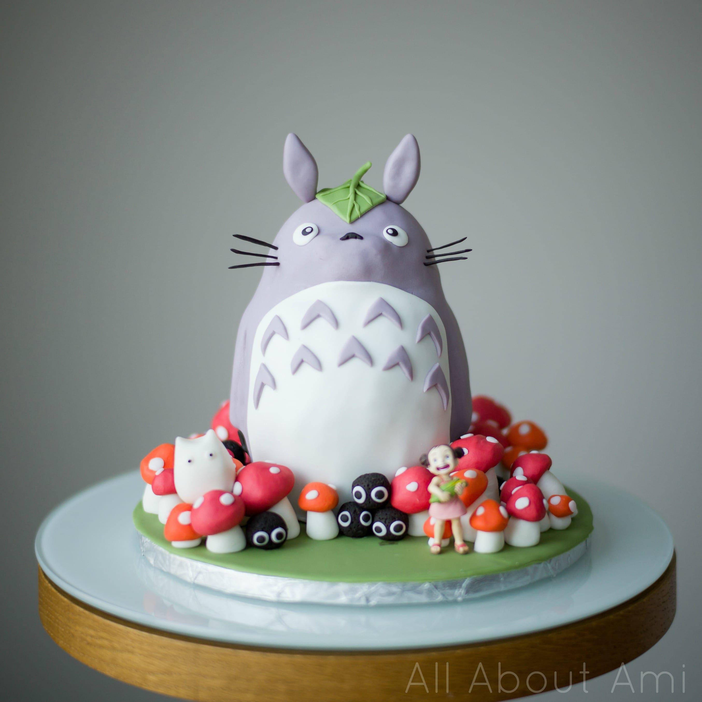 Wondrous Brielles Totoro Birthday Cake Anime Cake Diy Birthday Cake Funny Birthday Cards Online Aeocydamsfinfo
