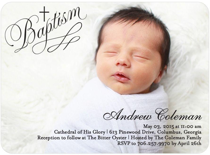 Pure Baptism: Light Blue - Baptism, Christening Invitations in Light ...