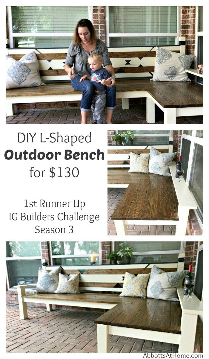 L Shaped Diy Backyard Bench Just 130 Diy Wood Bench Diy Bench Outdoor Wood Bench Plans