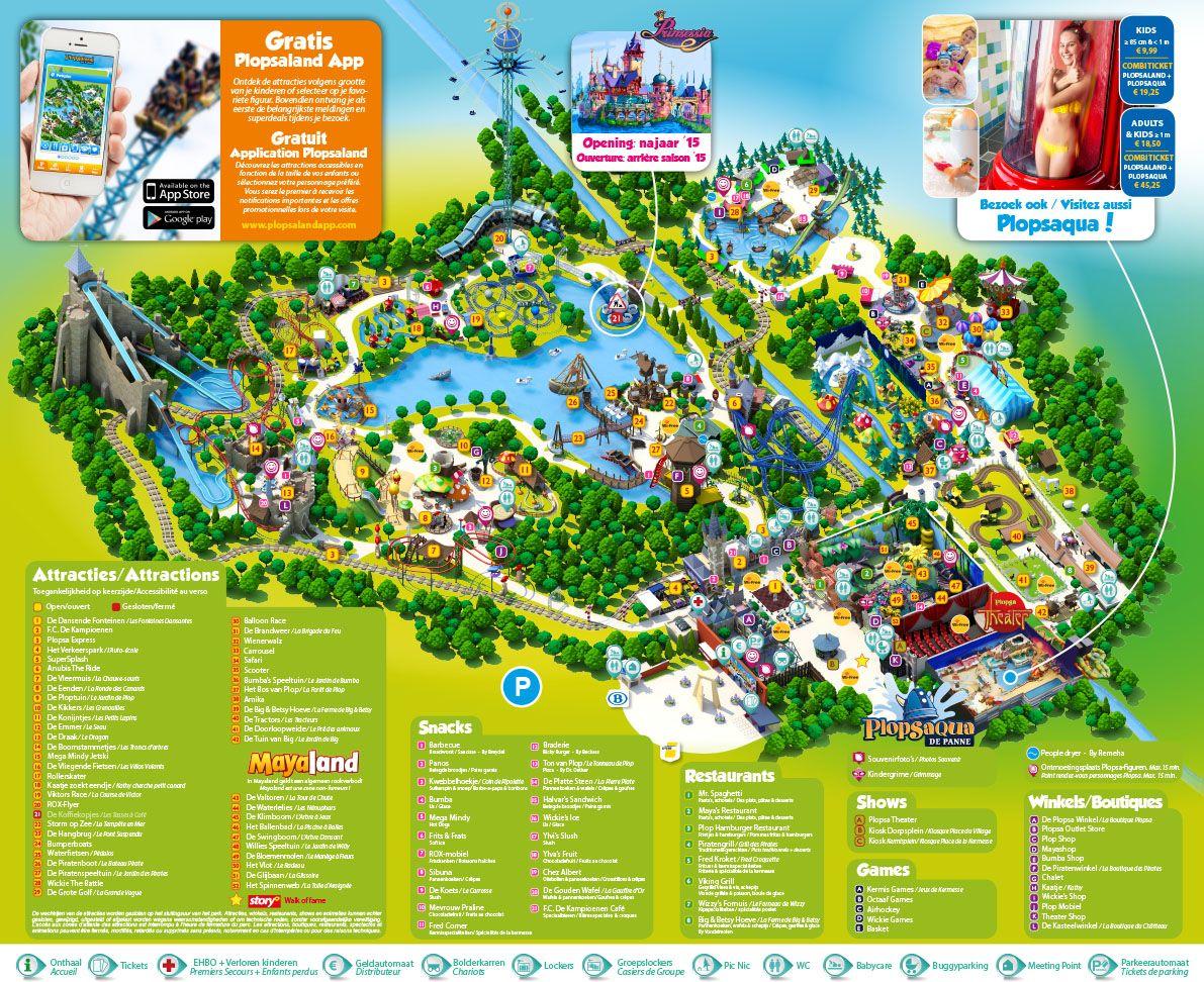Parkplan Plopsaland De Panne Parc D Attraction Parcs Parc