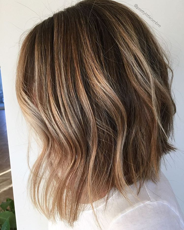 45 Ideas for Light Brown Hair with Highlights and Lowlights. Balayage  BobBrown