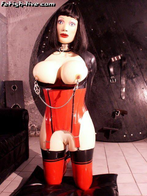 Female latex masks rubber