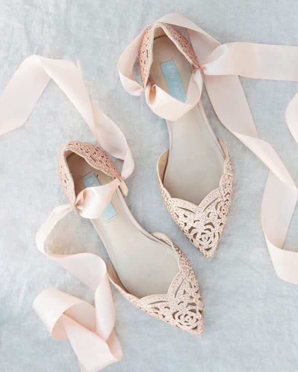 f4369a483ccb Embellished Laser Cut Shoes Lace Wedding Shoes