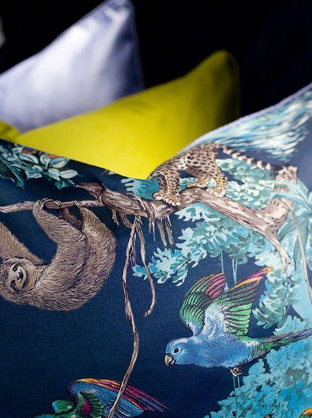 Charles Burnand- Hermes Equateur fabric cushions.