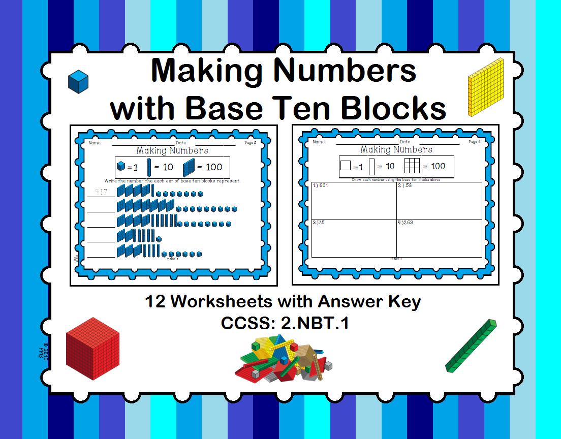 Making Numbers With Base Ten Blocks