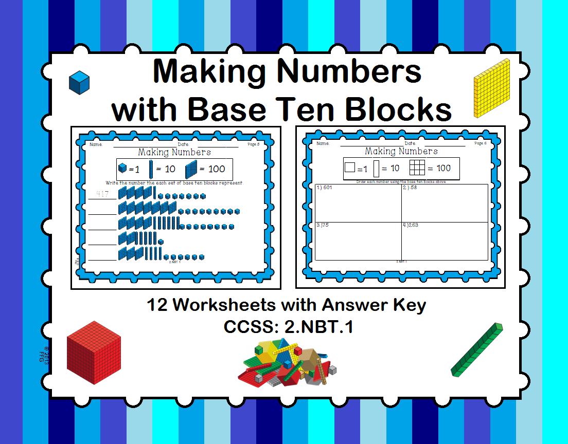 Making Numbers With Base Ten Blocks