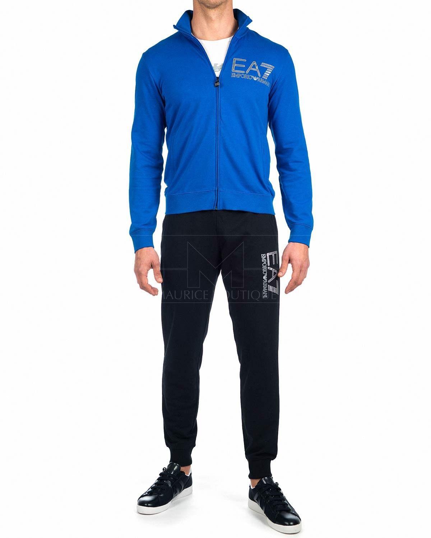 0729a69fa4b3d Chandal EA7 Emporio Armani ® Hombre - Azul Royal   Negro Zapatillas Armani