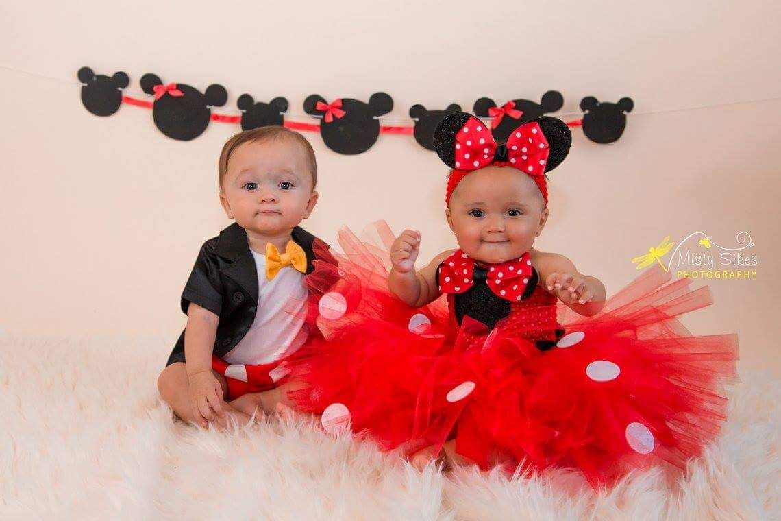 Baby Girl 1st Anniversaire Costume Minnie Mouse
