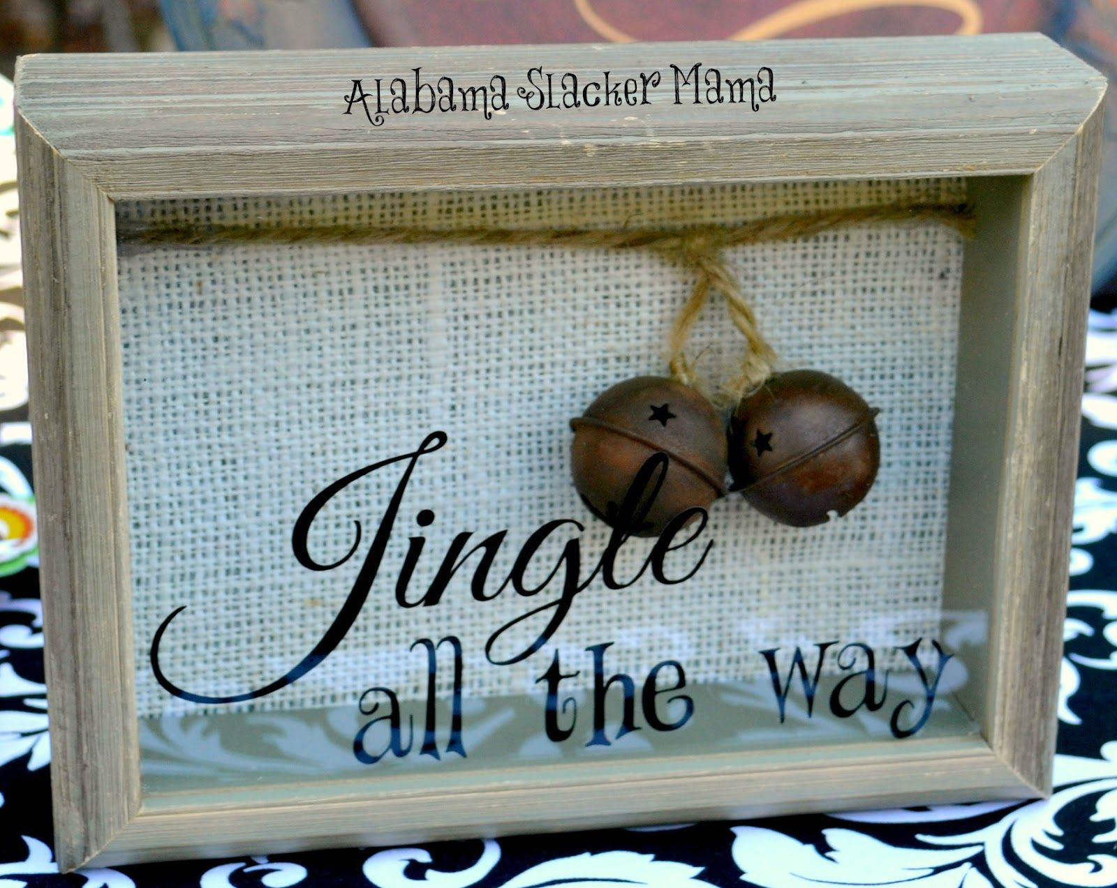 Jingle All The Way Shadow Box Christmas Shadow Box