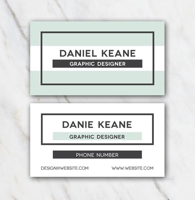Daniel Keane Business Card Template Business Card Template Free Business Card Templates White Business Card