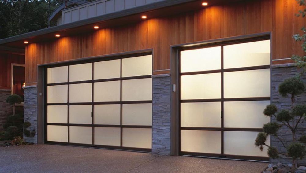 Decorations Accessories Exterior Elegant Garage Door With Tile