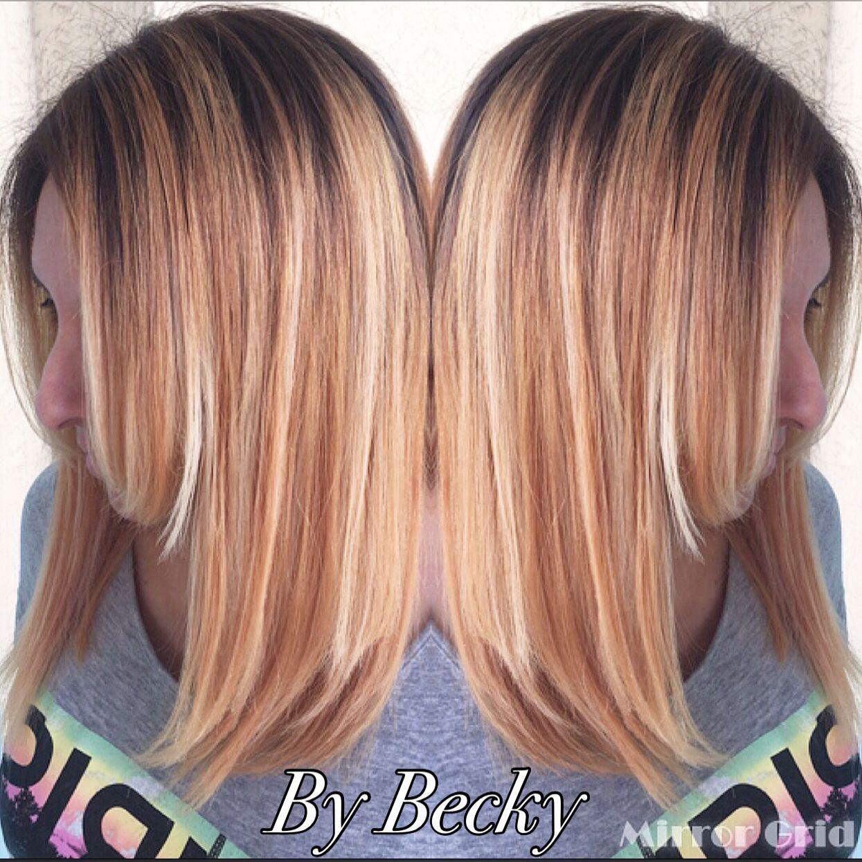 Ombré u long bob haircut trendy hair colors pinterest long bob
