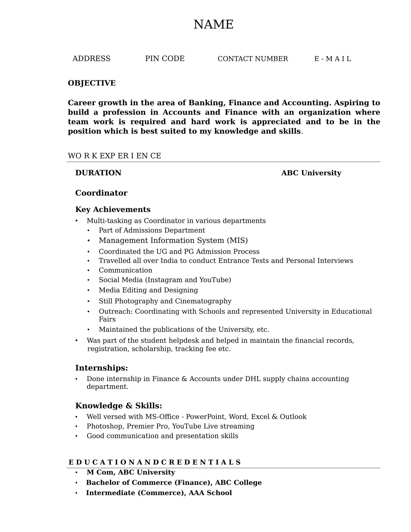 42+ cv accountant resume templates in 2020 Resume