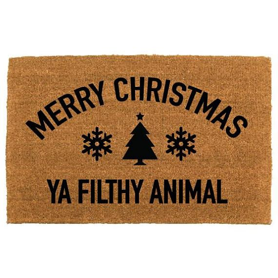 The Merry Christmas Ya Filthy Animal Doormat By The Cheeky