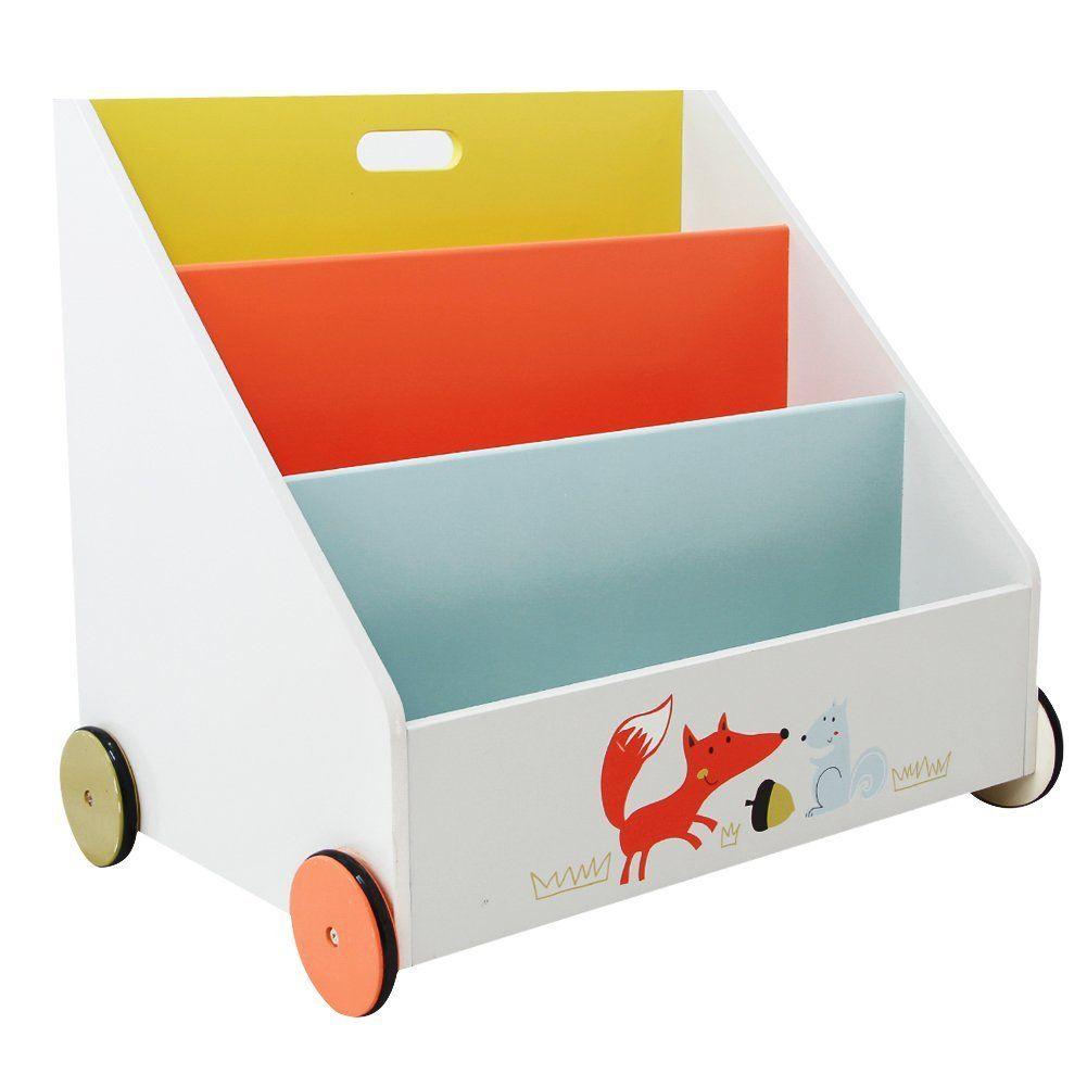 Kinder Bücherregal labebe stabiles und bewegliches kinder bücherregal spielzeugregal