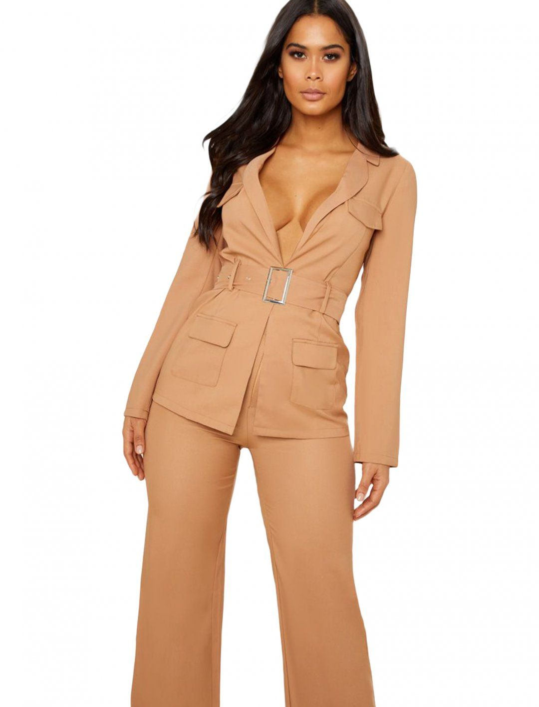 b0f9c959 Belted Blazer, In Camel, Utility Style from Pretty Little Thing ...