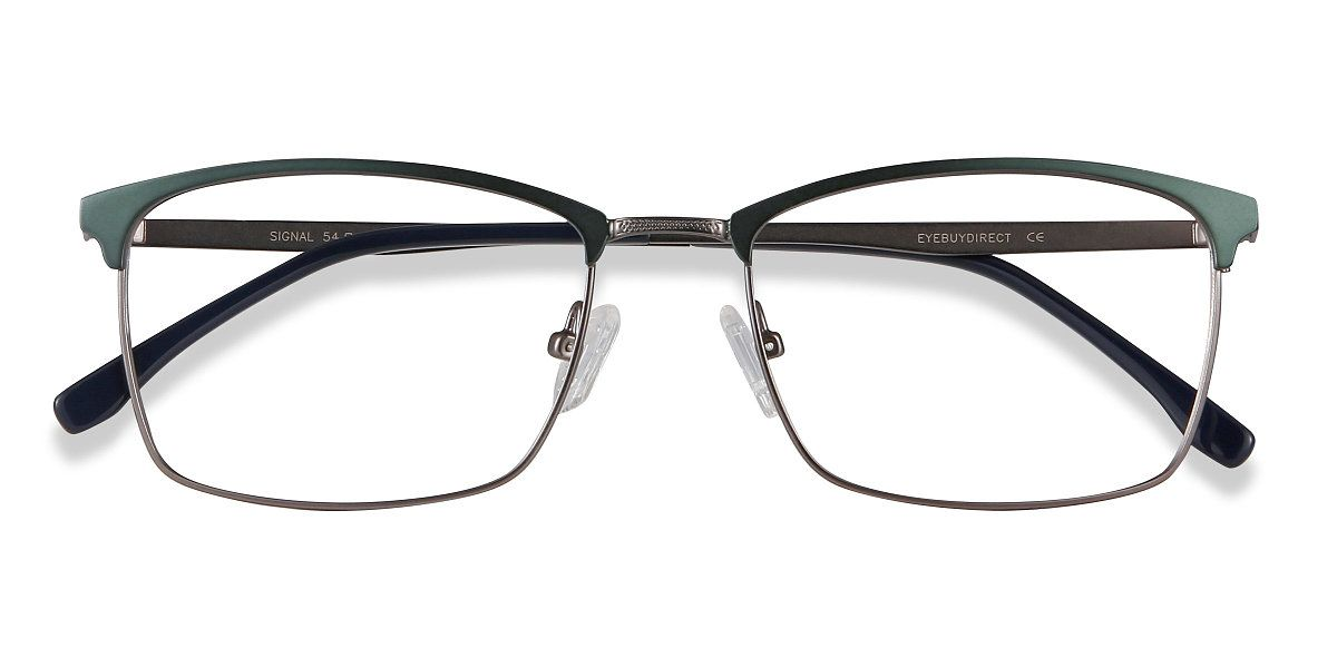 Signal Browline Green Frame Glasses Eyeglasses, Green