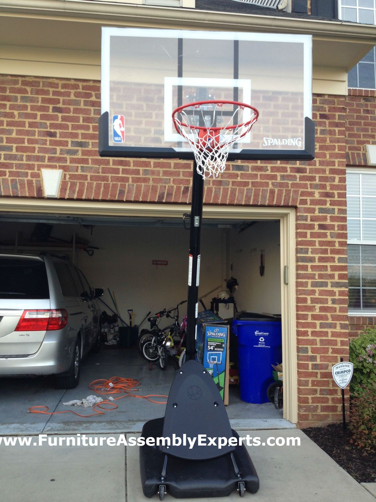 Spalding Portable Basketball Hoop System Assembled In Laurel Md By Furniture Assembly Portable Basketball Hoop Spalding Basketball Hoop High School Basketball