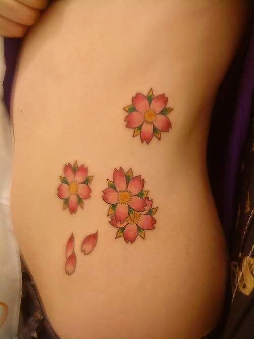 Elegant Tumblr Pink Flower Tattoo (500×667)