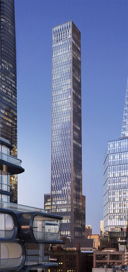 35 Hudson Yards Is Located At The Southeast Corner Of 33rd Street And 11th Avenue The 1 Skyscraper Architecture Modern Architecture Design Facade Architecture
