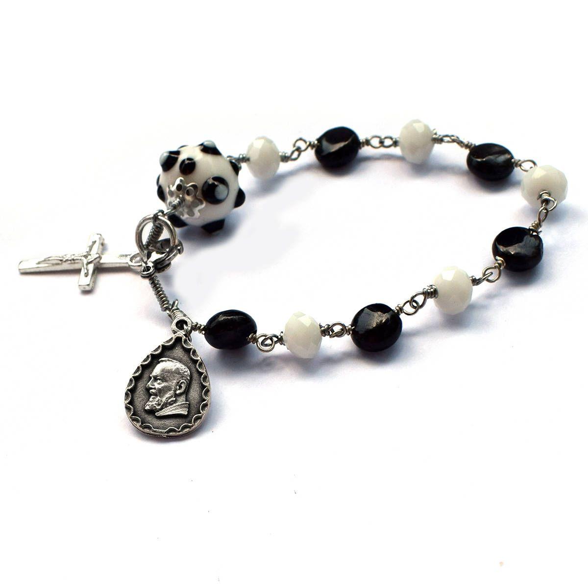 St pio bracelet father pio one decade rosary padre pio franciscan