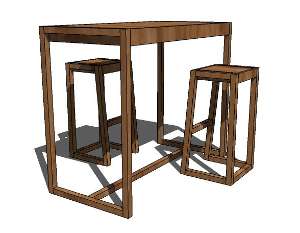 Simple Modern Bar Table Want It Standard Height As A Dining Room