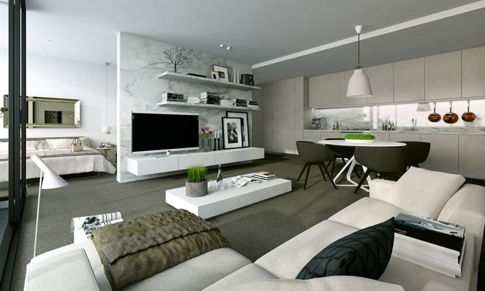 AuBergewohnlich Wohnzimmer Modern : Wohnzimmer Modern Einrichten Ideen