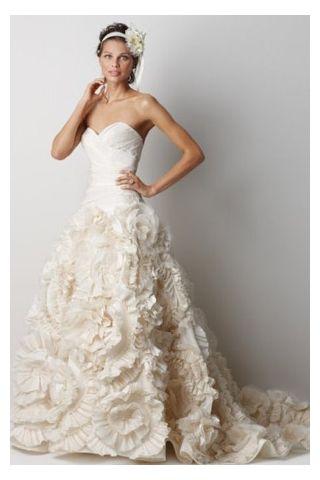 Le Sweetheart Corset Bodice Rosette Wedding Dress