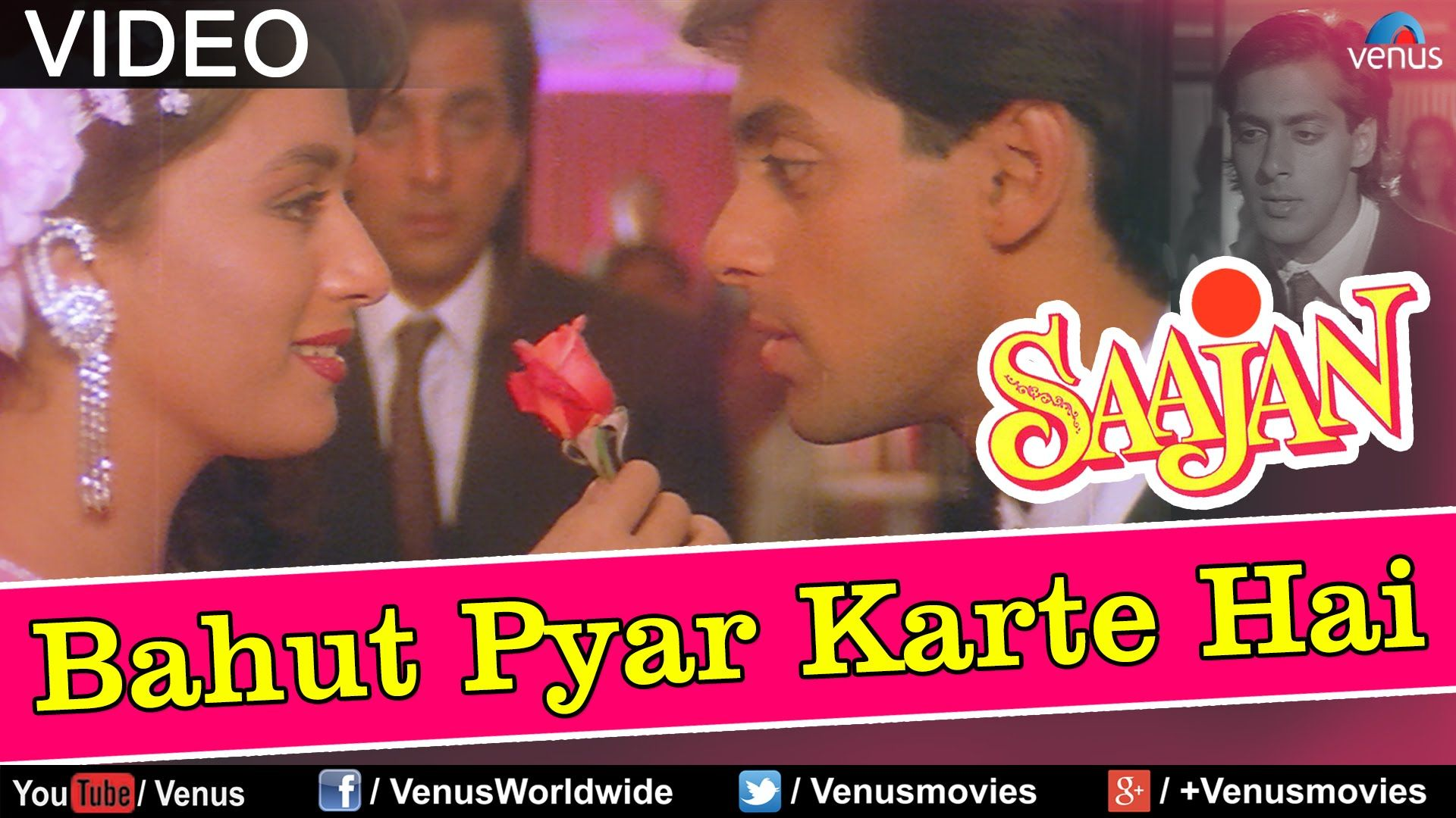 Bahut Pyar Karte Hain Male Full Video Song Saajan Salman Khan Madhuri Dixit Sanjay Dutt Youtube Lyrics Songs Male