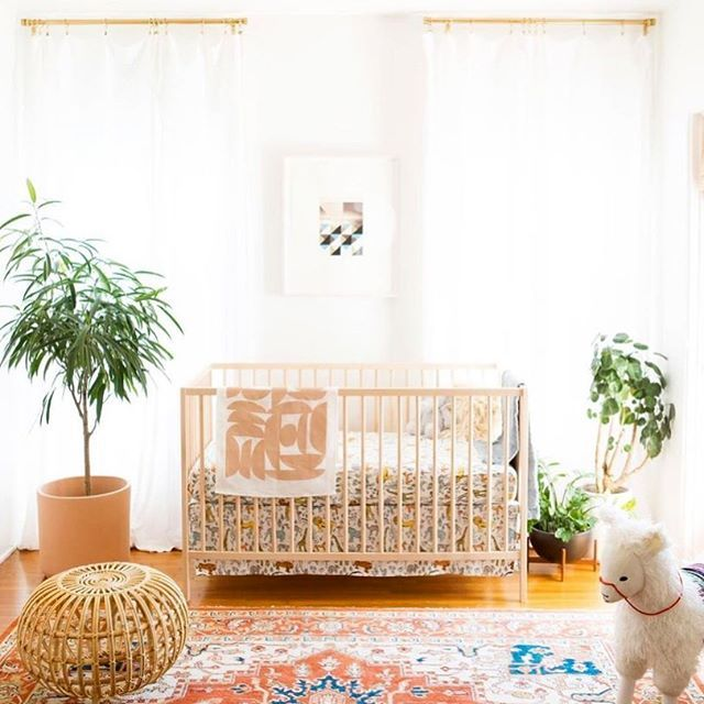 """Project Nursery on Instagram: """"Whoa, boho baby! Swooning over this space. What was the first item you bought for the nursery?? Design: @sarahyatesmora . . . . .…"""""""