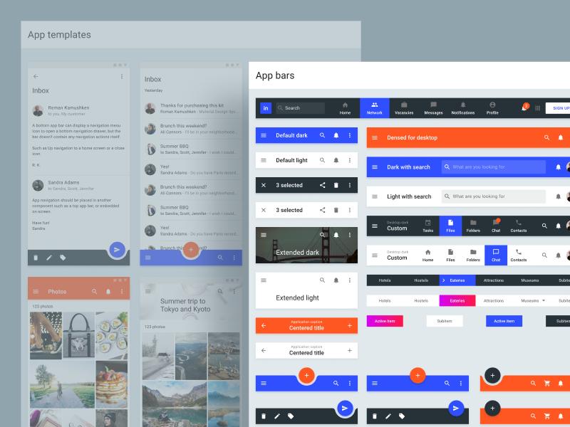 Material Design Templates  Figma UI kit | Dribbble / ui