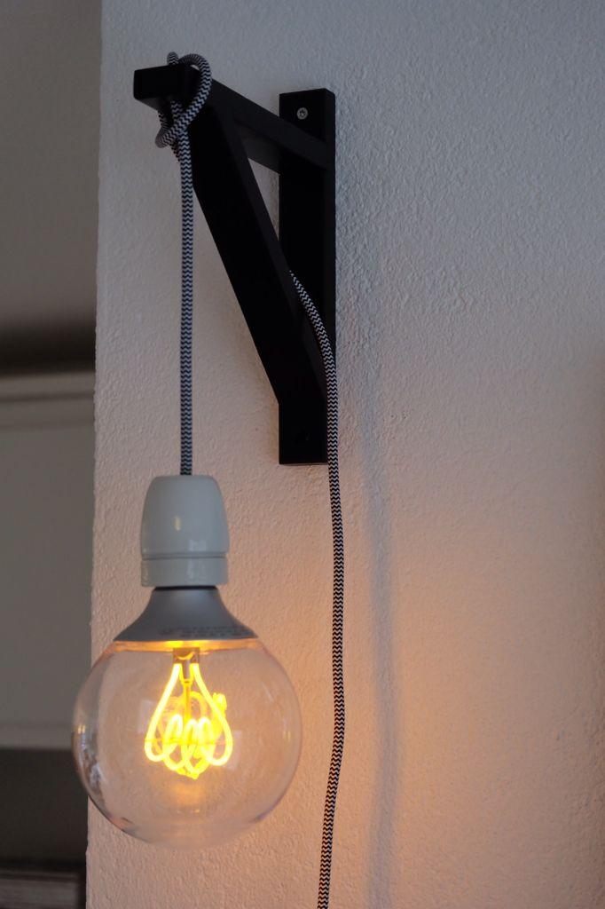 Diy Ikea Hack Console Ekby Valter Led Lamp Nittio Snoer Van Snoerboer