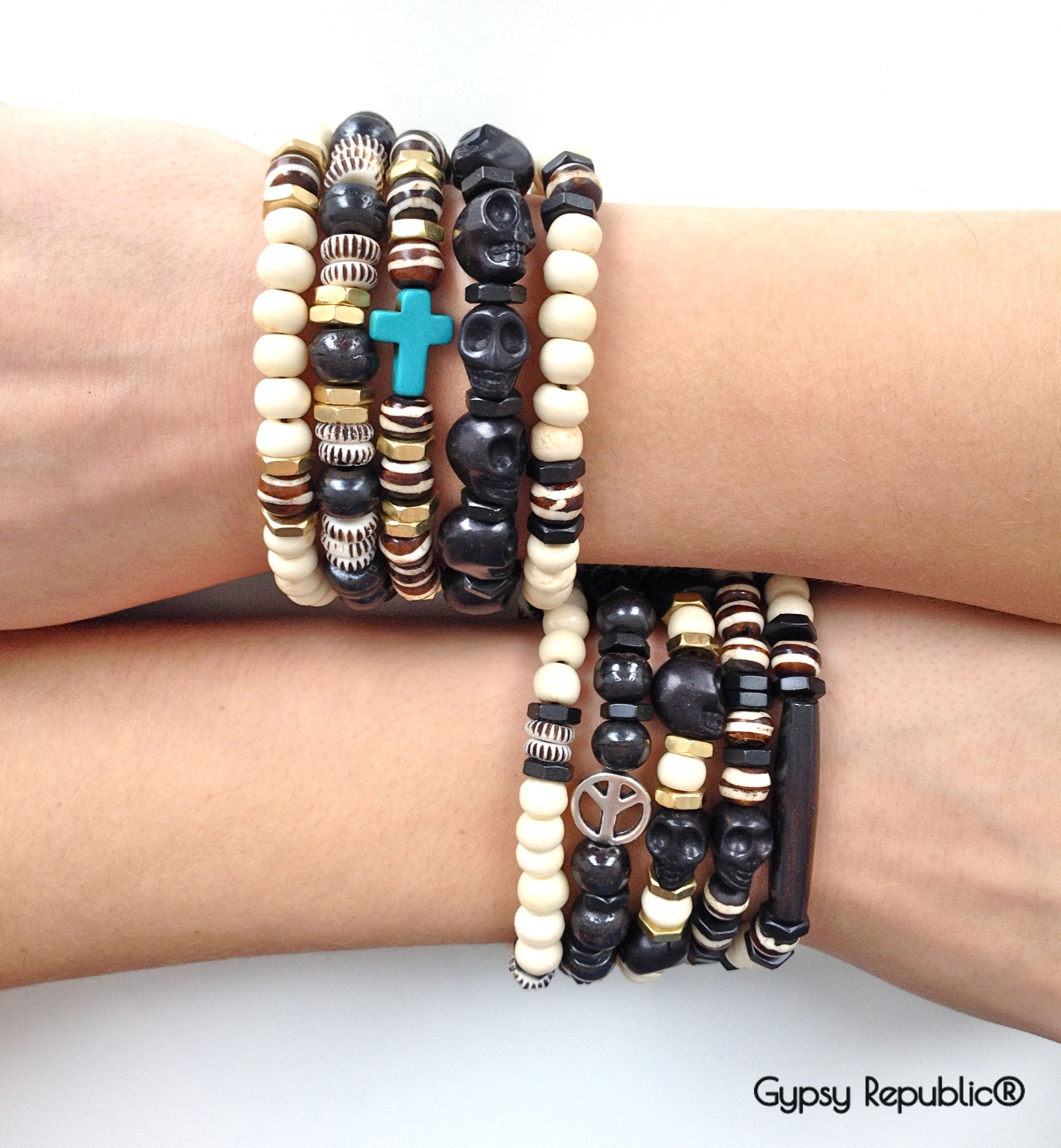 Mix And Match Surfer Style Men S Bracelets Gypsyrepublic