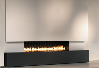 0801 interieur woning on pinterest open plan fireplaces and concre - Deco moderne open haard ...