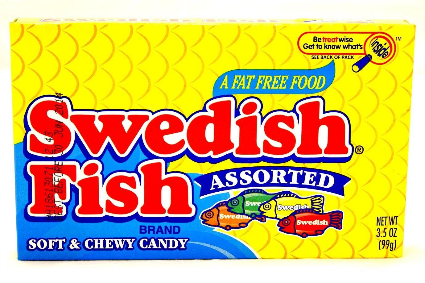 Swedish Fish Assorted Theatre Box 3 5oz 99g Swedish Fish Swedish Fish Flavor Sweet Hampers