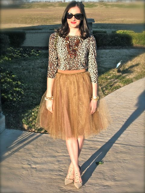 Wake Up Your Wardrobe  What I Wore: Tulle & Leopard