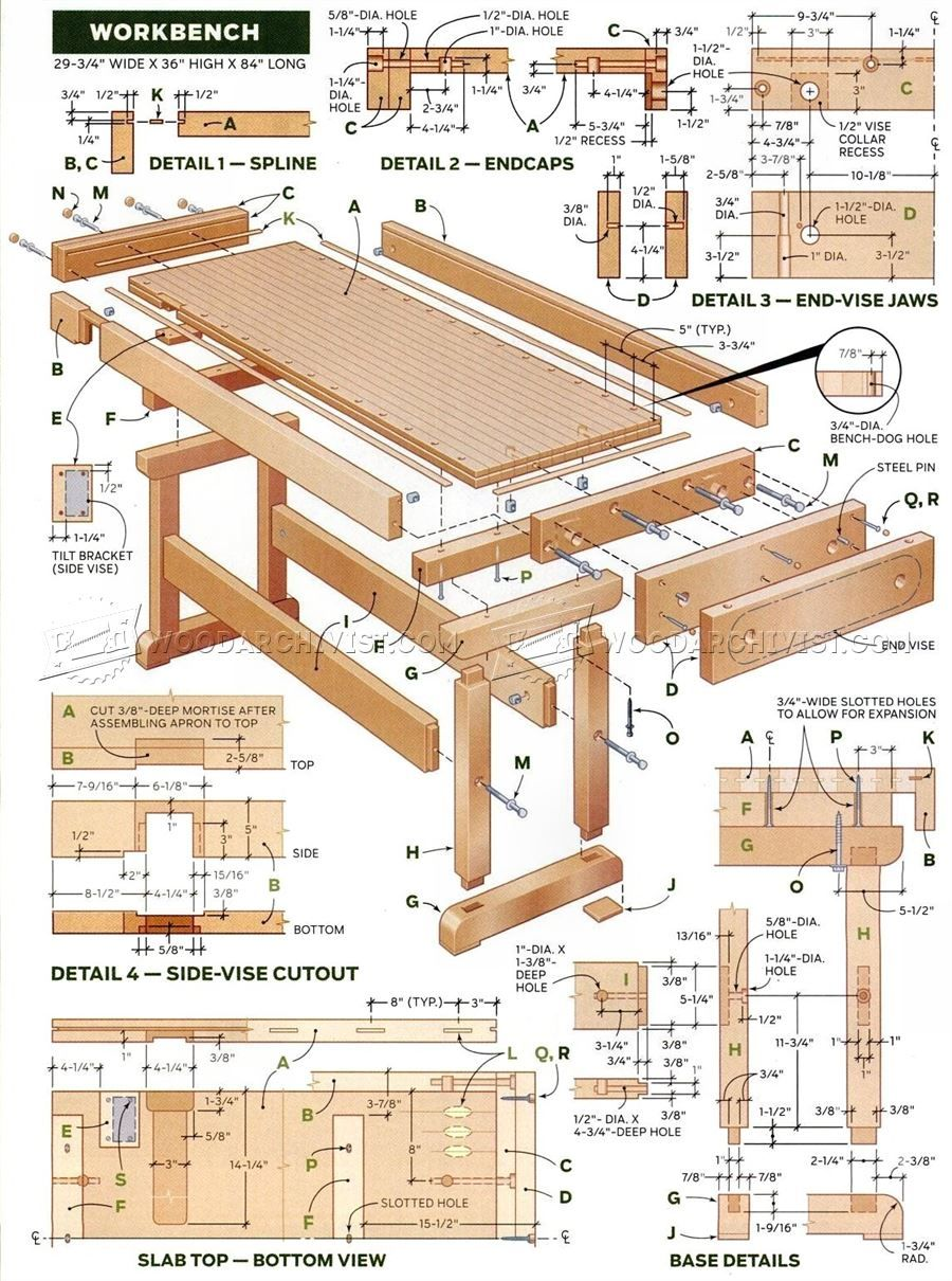 862 Workbench Plan Solutions Woodworking