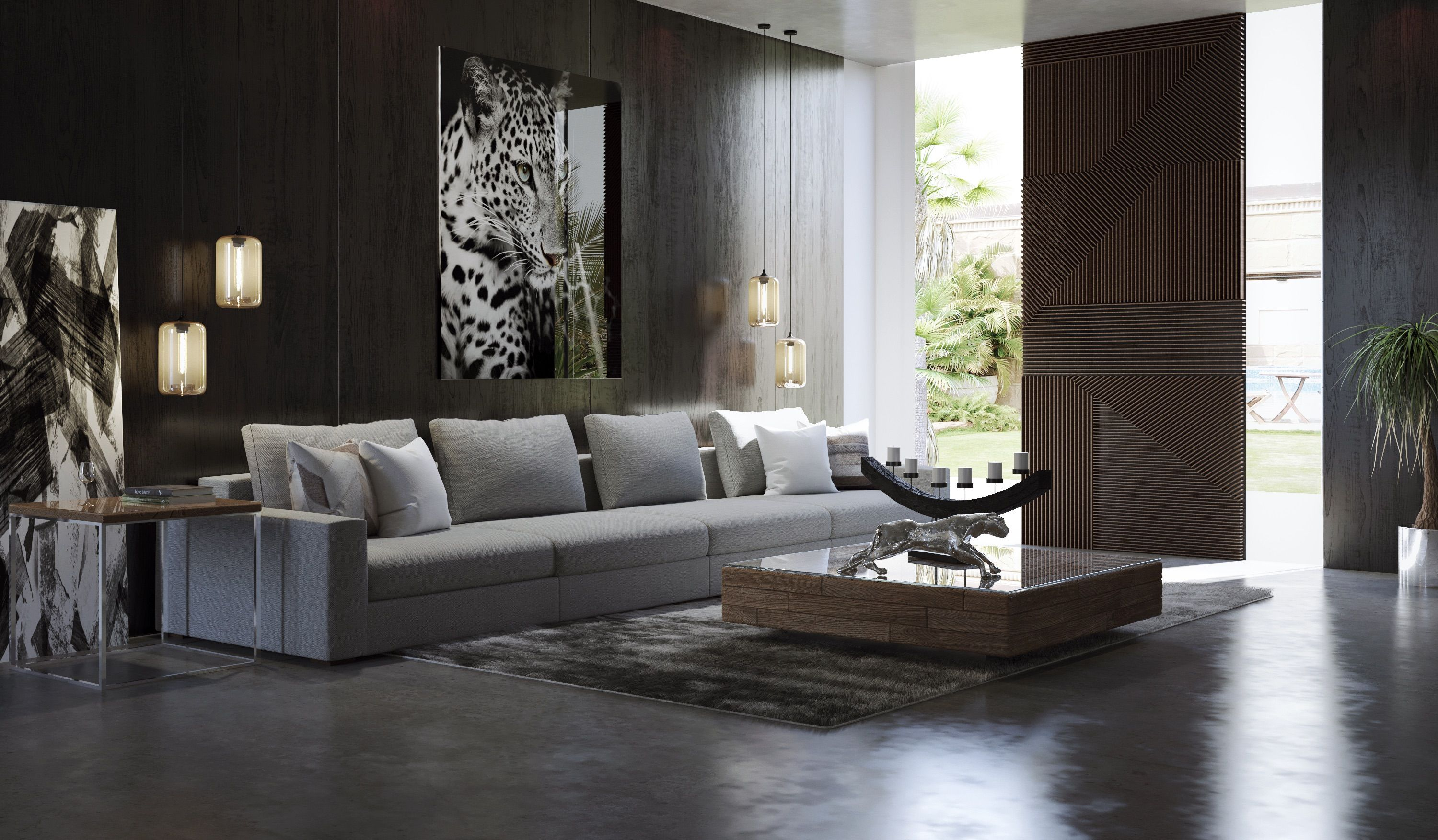 Modern living room from Modani Furniture. (With images ...