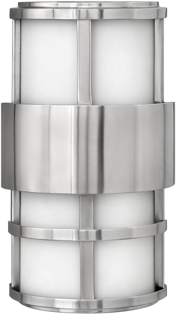 """0-015514>13""""""""h Saturn 1-Light Wall Outdoor Stainless Steel"""