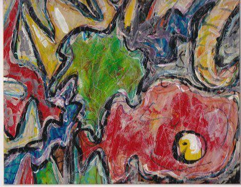 "James Feely, ""Setting the hook"" - mixed media, 9.5"" x 7.5"" on ArtStack #james-feely #art"